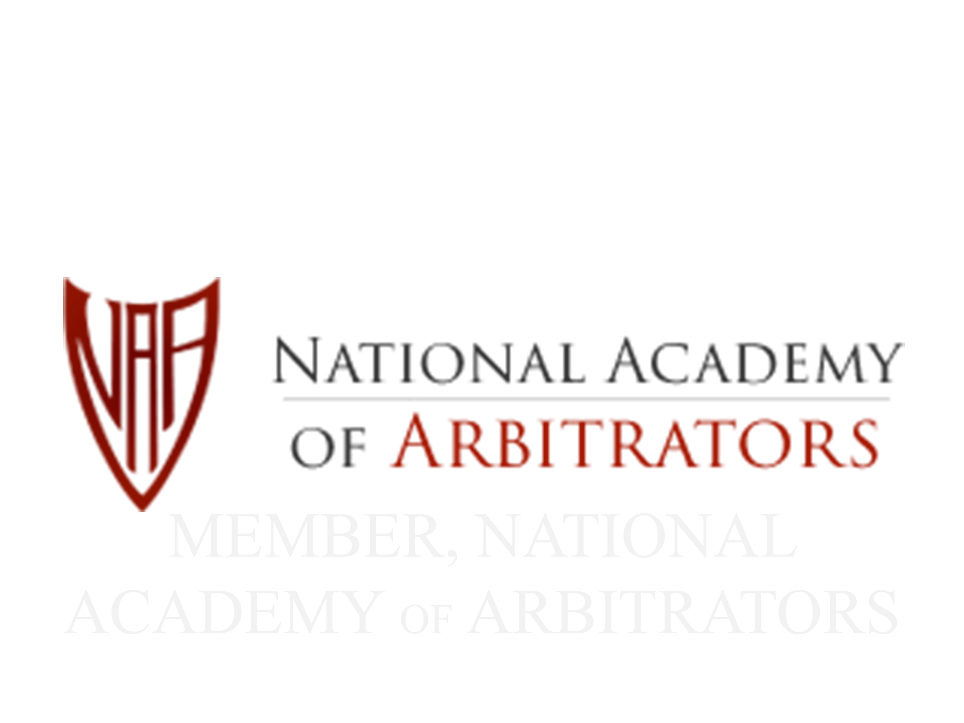 Member of the National Academy of Arbitrators
